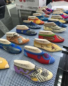 Shoe Story, Wooden Shoe, Funky Shoes, Boutique Interior, Pics Art, Shoe Last, Shoe Tree, Painted Shoes, Anchors
