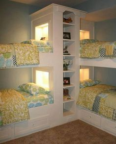 cool multi bed room layout