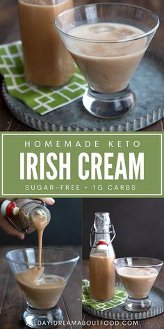 Love the Bailey's but not the sugar? Try my easy recipe for Keto Irish Cream Liqueur. Deliciously creamy and fewer than 1g carbs per serving, so you can indulge healthfully. Happy sipping! Irish Cream, Low Carb Cocktails, Cocktail Drinks, Alcoholic Drinks, Low Carb Recipes, Low Carb Keto, Low Carb Deserts, Low Carb Sweets, Healthy Alcohol
