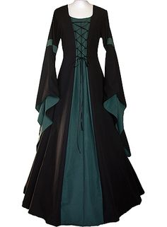 This is beautiful - dornbluth.co.uk - medieval dresses lots of variations on this site colourwise, some style wise