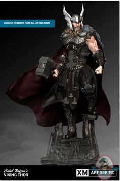 Viking Thor Statue By Caleb Nefzen Marvel Comics, Marvel Art, Marvel Characters, Fantasy Characters, Thor Norse, Thor 1, Comic Character, Character Design, Vikings