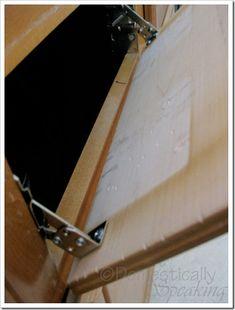 Diy how to: make those false drawer fronts useful. Cabinet under sink drawer front conversion.