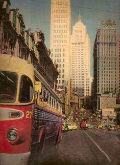 Avenida São João na década de 50 San Paulo, Salvador, History Of Time, Sao Paulo Brazil, Historical Pictures, Old City, Old Pictures, Vintage Photos, Street Photography