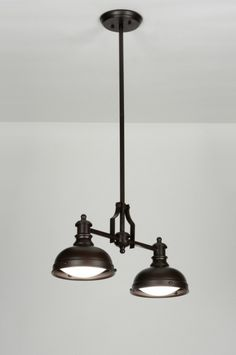 Hanglamp 87583: Design, Chroom, Glas, Kristal  Lamp eettafel ...