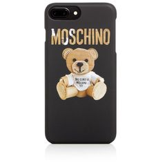 Moschino Teddy Bear iPhone 7 Plus Case (240 PEN) ❤ liked on Polyvore featuring accessories, tech accessories, fantasy print beige and moschino