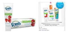 Tom's of Maine Coupons | Kids Toothpaste $.74   Cheap Children Mouthwash at Target!