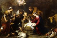 Adoration of the Shepherds by Bartolome Esteban Murillo