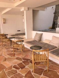 Hotel Les Roches Rouges Mood Colors, Restaurant Design, Mosaic Tiles, Interior Inspiration, Interior Architecture, Bungalow, Building A House, Flooring, Corsica