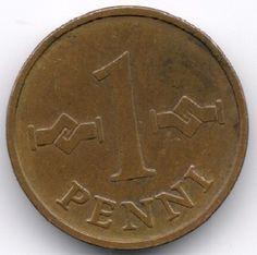 Finland 1 Penni 1963 Veiling in de Finland,Europa (niet of voor €),Munten,Munten & Banknota's Categorie op eBid België