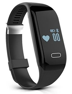 Aoozi H3 Wireless Bluetooth Waterproof Touch Screen Fitness Tracker with Heart Rate Monitor Smart Watch Healthy Wristband >>> For more information, visit image link.