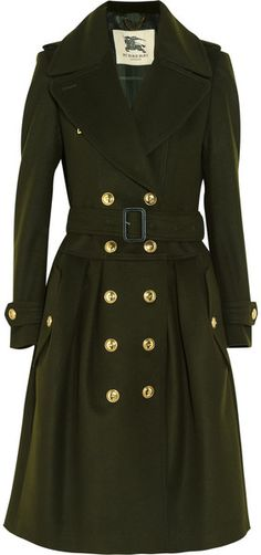The Boo'tique .. The military look BURBERRY Wool and Cashmere Blend Trench Coat