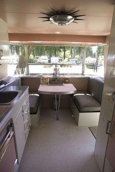 vintage camper, coool lamp shade!!