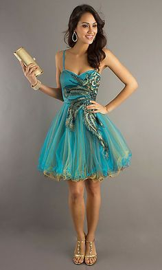 Peacock sweet 16 dress. Expensive but adorable!