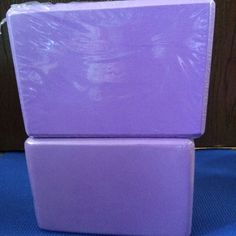 NWT Purple yoga block , prop, or brick Yoga block to assist in flexibility stretch and various poses. I purchased these from my yoga students but I bought too many:( please sell for $10 each I am selling for $8 each or $14 for 2 blocks. I have these in purple black and blue. Other