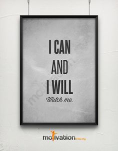 I can and I will Taken from Etsy