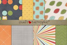 Check out Crisp Autumn Paper Pack by Craftastrophic-Stuff http://crtv.mk/sMc5
