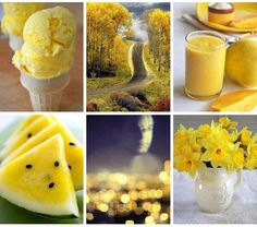 xxx Photography Collage, World Of Color, Cantaloupe, My Favorite Things, Fruit, Mood Boards, Collages, Food, Colour Yellow