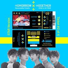 K-pop Custom Memorabilia Concert Tickets (January-June Concert Ticket Template, One Ticket, Concert Tickets, Albums Bts, Billet Concert, Pop Custom, Pops Concert, Ticket Design, Foto Bts