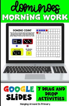 Why not try Digital Morning Work?  Your kindergarten and first grade students will practice math skills like addition and comparing and ordering while playing using dominoes and they won't even realize they are doing math! This Google Slides digital resource is perfect for assigning in Google Classroom or to use as a math center in the classroom. #morningwork #morningtubs #mathtubideasforfirstgrade #mathcentersforfirstgrade #mathwithdominos #firstgrademorningwork Primary Maths, Primary Classroom, Google Classroom, Teaching First Grade, Teaching Math, Learning Activities, Activity Centers, Math Centers, Math Skills