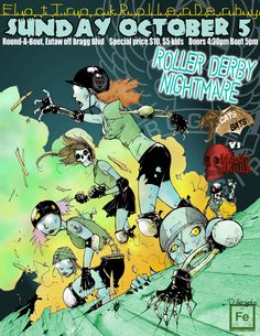 Roller Derby Nightmare by ~TheIronClown