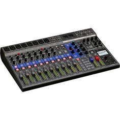 Combined mixer, audio interface and recorder 12 discrete channels mono plus 2 stereo channels) with XLR and mm jack sockets, Simultaneous recording of up to 14 tracks, Playback of 12 tracks, USB audio. Signal Processing, Usb, Phantom Power, Recorder Music, Tracking System, Digital Audio, Card Reader, Sd Card, Mixer
