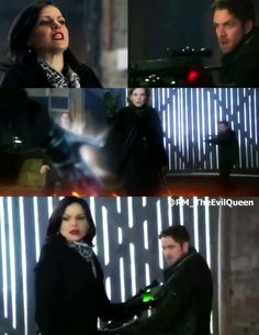 Once Upon A Time 3x20 'Kansas' Regina and Robin  #OnceUponATime #OUAT #Oncers #WickedVsEvil #EvilRegals #hoodies #ReginaMills #Robinhood #OutlawQueen