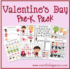 Valentine Pre-K/Preschool/Tot Printables! 31 Pages of Pre-K and K Valentine Learning Pages Valentine Theme, Valentine Day Crafts, Printable Valentine, Valentine Stuff, Valentine Ideas, Valentine's Day Printables, Preschool Printables, Happy Hearts Day, Valentines Day Activities