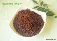 The dry version of pulioyogare mix that is puliyogare powder would be great alternative and come very handy to prepare instant tamarind rice. Homemade Spice Blends, Homemade Spices, Homemade Seasonings, Spice Mixes, Healthy Thai Recipes, Indian Food Recipes, Dog Food Recipes, Rice Recipes, Kitchens