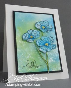 Stamping with Loll: Blue Blooms