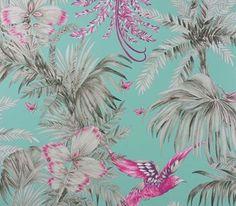 Bird of Paradise azul papel - Matthew Williamson