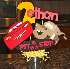 Disney Pixar Cars Centerpiece. $30.00, via Etsy.