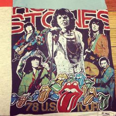 Rolling Stones t-shirt from 1978. Not sure we would have turned this one into a t-shirt quilt...