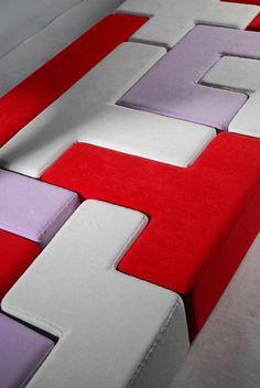 Un sillón modular con forma de Tetris