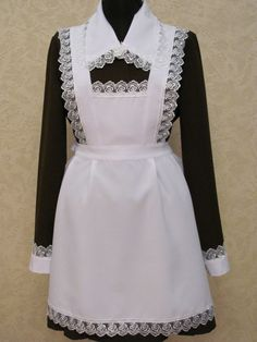 .An ornate housekeeping dress such as this is best reserved for when he's dressed to impress rather than for hard cleaning.