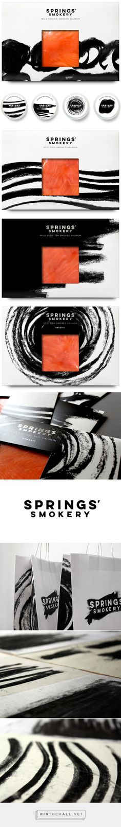 Springs' Smokery #salmon #packaging designed by Distil Studio - http://www.packagingoftheworld.com/2015/08/springs-smokery.html