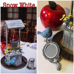 Disney DIY SNOW WHITE Wedding Centerpiece Trendy Wedding, Dream Wedding, Disney Centerpieces, Snow White Wedding, Disney Diy, Wedding Themes, Mason Jars, Wedding Reception Themes, Mason Jar