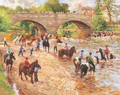 Crossing the river at Appleby horse fair