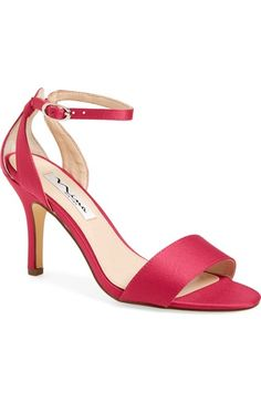 Nina 'Venetia' Ankle Strap Sandal  So there are a few color options with this shoe, the only concern I would have is that because the sides are open, there won't be that much support