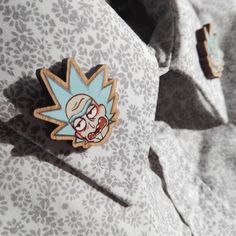 Gotta show you're classy during Christmas dinner ;) http://etsy.me/2zWvFJi #accessories #pin #birthday #christmas #brown #rickandmorty