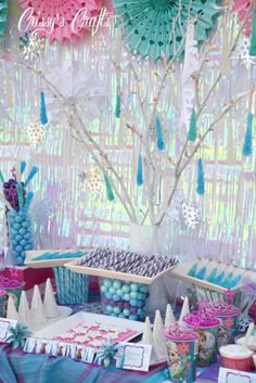Frozen Birthday Party #winterbirthday #ideas