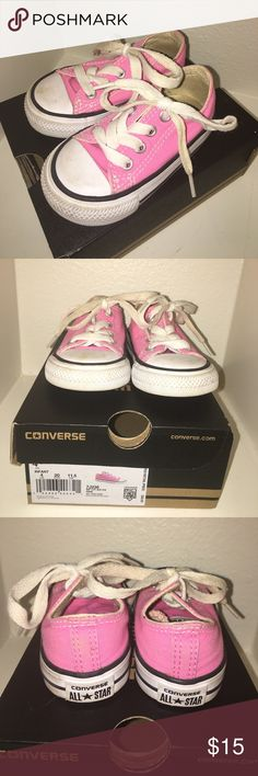 Converse Pink All Star Low Ankle Toddler Girls Gently worn, comes with original box Converse Shoes Sneakers