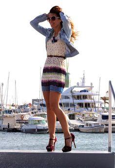 summer dress + denim jacket = love
