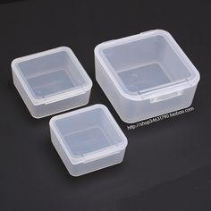 Transpa Plastic Small Square Container