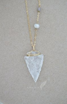 84ac96d6031da5 NATURAL Hand Carved Crystal Quartz Arrowhead, Frosted Rondelles, Chakra  Moonchild Babe Gift for Her Everyday Jewels Necklace