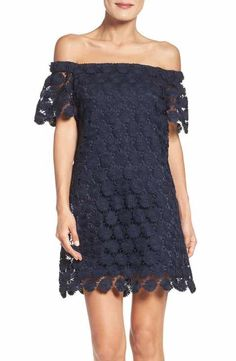 trina Trina Turk Merengue Daisy Off the Shoulder Dress