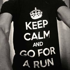 "Cool ""KEEP CALM"" t-shirt for runners/joggers.  Comes in Black, Red, Green and Purple. Only £14.99"