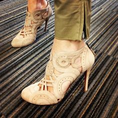 Sandrine's Azzedine Alaias from the Harvey Nichols sale. Major #shoe envy in the Press Office today!