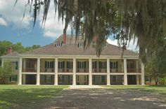 Destrehan plantation, view from River Road. West from New Orleans, Louisiana