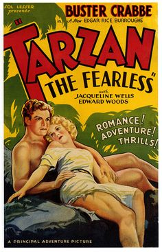 Tarzan the Fearless posters for sale online. Buy Tarzan the Fearless movie posters from Movie Poster Shop. We're your movie poster source for new releases and vintage movie posters. Action Movie Poster, Old Movie Posters, Cinema Posters, Movie Poster Art, Film Posters, Poster Wall, Tarzan Series, Tarzan Movie, Tarzan Actors