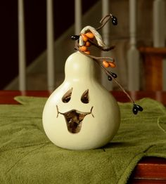 Meadowbrooke Gourds Party Treat-Ghost Face